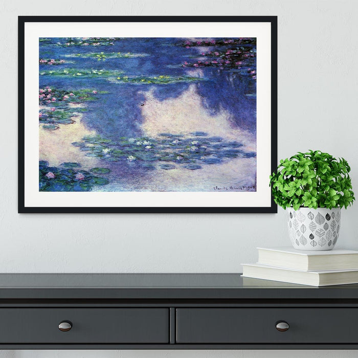 Water lilies water landscape 4 by Monet Framed Print