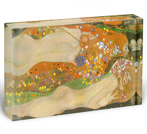 Water snakes friends II by Klimt Acrylic Block - Canvas Art Rocks - 1