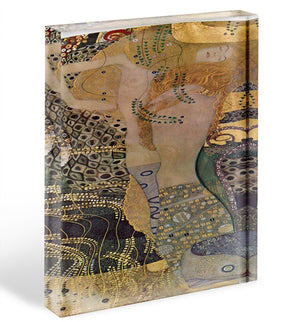 Water snakes friends I by Klimt Acrylic Block - Canvas Art Rocks - 1