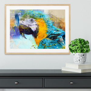 Watercolour Parrot Close Up Framed Print - Canvas Art Rocks - 3