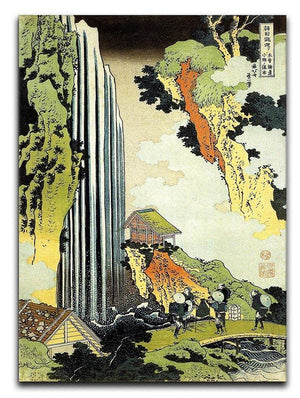 Waterfall by Hokusai Canvas Print or Poster  - Canvas Art Rocks - 1