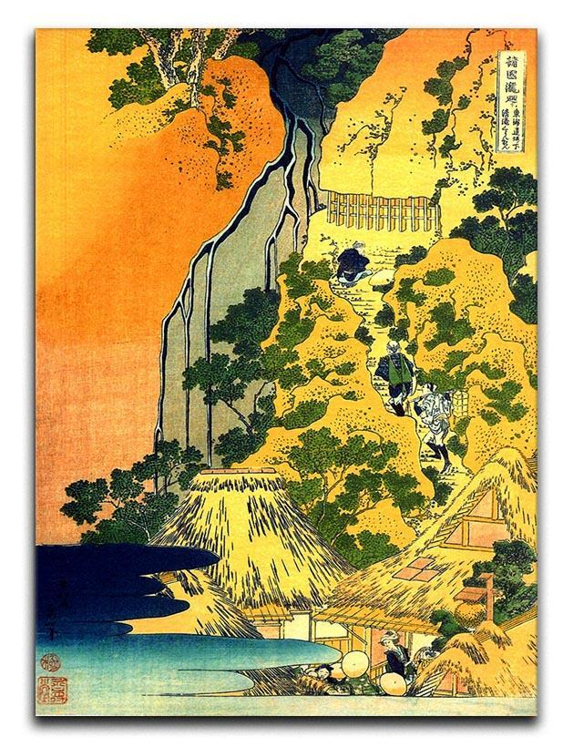 Waterfalls in all provinces by Hokusai Canvas Print or Poster