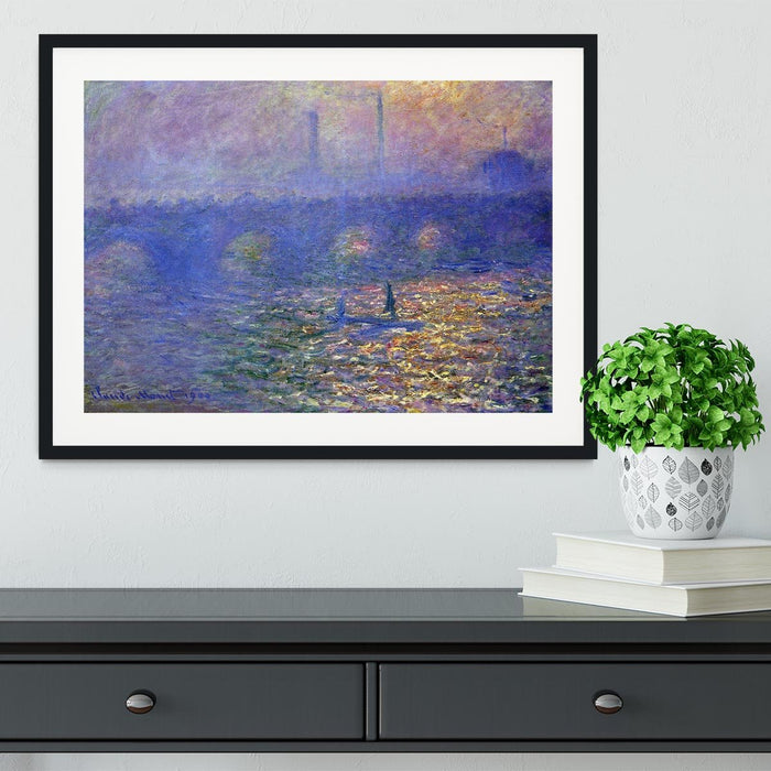 Waterloo Bridge by Monet Framed Print