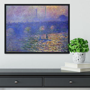 Waterloo Bridge by Monet Framed Print - Canvas Art Rocks - 2