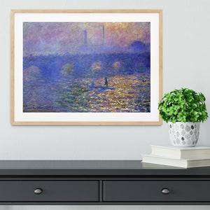 Waterloo Bridge by Monet Framed Print - Canvas Art Rocks - 3