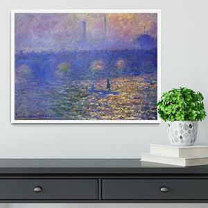 Waterloo Bridge by Monet Framed Print - Canvas Art Rocks -6