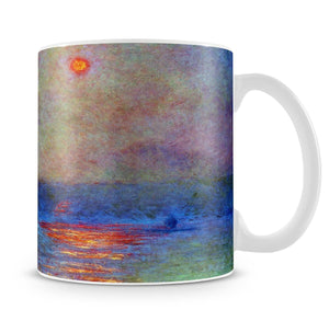Waterloo Bridge the sun in the fog by Monet Mug - Canvas Art Rocks - 4