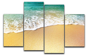 Wave of sea water and sand 4 Split Panel Canvas - Canvas Art Rocks - 1