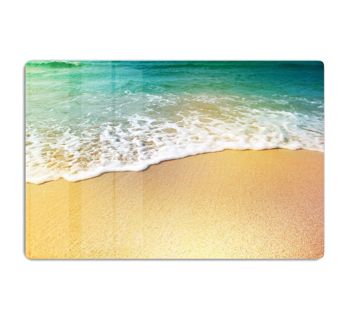 Wave of sea water and sand HD Metal Print