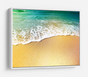 Wave of sea water and sand HD Metal Print - Canvas Art Rocks - 7