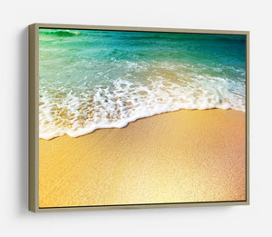 Wave of sea water and sand HD Metal Print - Canvas Art Rocks - 8