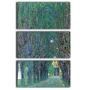Way to the Park by Klimt 3 Split Panel Canvas Print - Canvas Art Rocks - 1