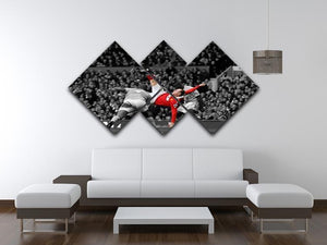 Wayne Rooney Bicycle Kick 4 Square Multi Panel Canvas - Canvas Art Rocks - 3
