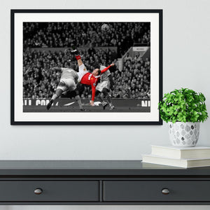 Wayne Rooney Bicycle Kick Framed Print - Canvas Art Rocks - 1