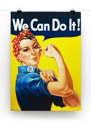 We Can Do It Print - Canvas Art Rocks - 2