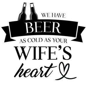 We Have Beer Wall Sticker - Canvas Art Rocks - 2