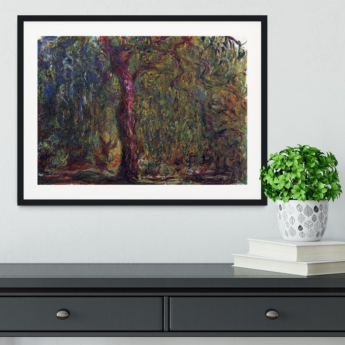 Weeping willow by Monet Framed Print