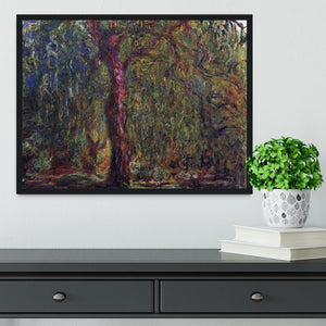 Weeping willow by Monet Framed Print - Canvas Art Rocks - 2