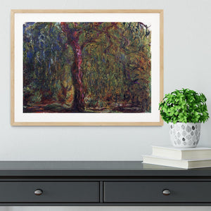 Weeping willow by Monet Framed Print - Canvas Art Rocks - 3