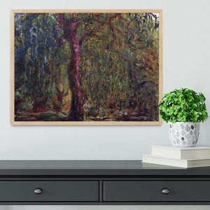 Weeping willow by Monet Framed Print - Canvas Art Rocks - 4