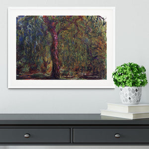 Weeping willow by Monet Framed Print - Canvas Art Rocks - 5