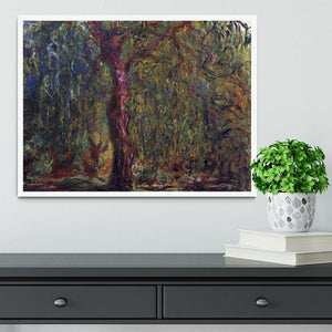 Weeping willow by Monet Framed Print - Canvas Art Rocks -6