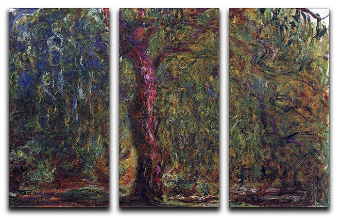 Weeping willow by Monet Split Panel Canvas Print