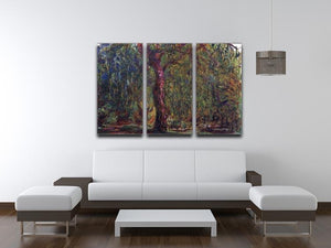Weeping willow by Monet Split Panel Canvas Print - Canvas Art Rocks - 4