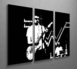 Weezer 3 Split Panel Canvas Print - Canvas Art Rocks - 2