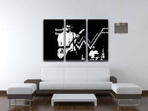 Weezer 3 Split Panel Canvas Print - Canvas Art Rocks - 3