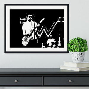Weezer Framed Print - Canvas Art Rocks - 1