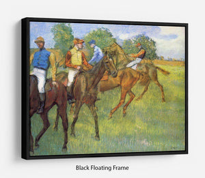 Weigh out by Degas Floating Frame Canvas - Canvas Art Rocks - 1