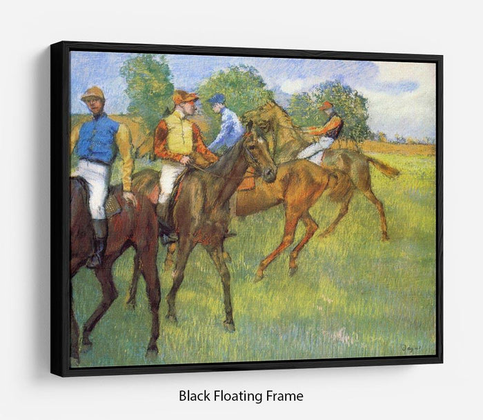 Weigh out by Degas Floating Frame Canvas