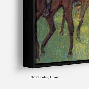 Weigh out by Degas Floating Frame Canvas - Canvas Art Rocks - 2