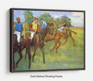 Weigh out by Degas Floating Frame Canvas - Canvas Art Rocks - 5