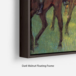 Weigh out by Degas Floating Frame Canvas - Canvas Art Rocks - 6