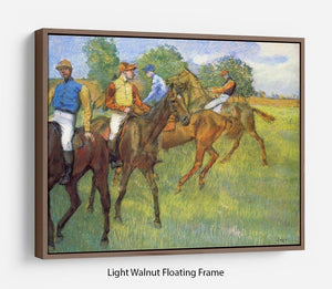 Weigh out by Degas Floating Frame Canvas - Canvas Art Rocks 7