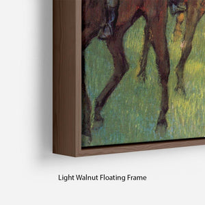 Weigh out by Degas Floating Frame Canvas - Canvas Art Rocks - 8