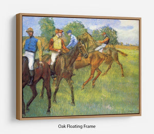 Weigh out by Degas Floating Frame Canvas - Canvas Art Rocks - 9