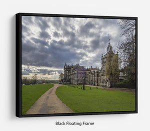 Wentworth Woodhouse Hall Floating Frame Canvas - Canvas Art Rocks - 1