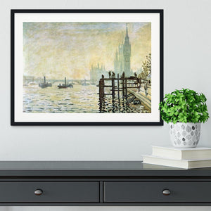 Westminster Bridge in London by Monet Framed Print - Canvas Art Rocks - 1