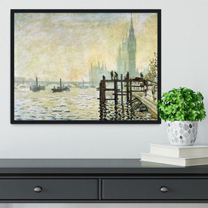 Westminster Bridge in London by Monet Framed Print - Canvas Art Rocks - 2