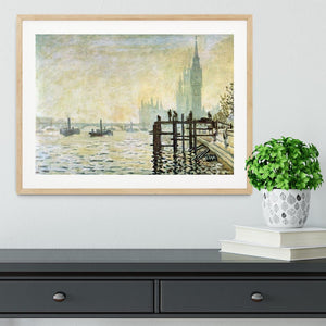 Westminster Bridge in London by Monet Framed Print - Canvas Art Rocks - 3