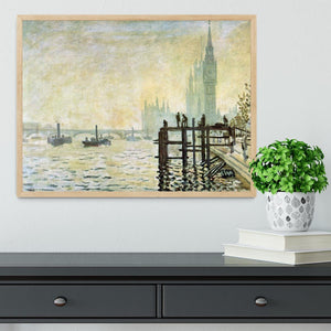 Westminster Bridge in London by Monet Framed Print - Canvas Art Rocks - 4