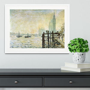 Westminster Bridge in London by Monet Framed Print - Canvas Art Rocks - 5
