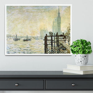 Westminster Bridge in London by Monet Framed Print - Canvas Art Rocks -6