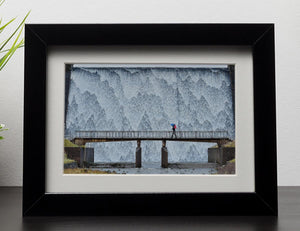 Wet Sleddale Framed Print - Canvas Art Rocks - 1