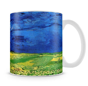 Wheat Field Under Clouded Sky by Van Gogh Mug - Canvas Art Rocks - 4