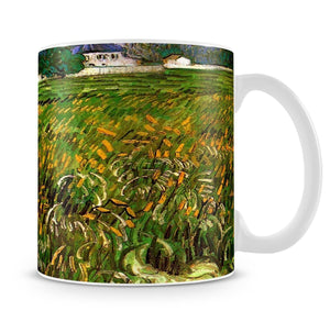 Wheat Field at Auvers with White House by Van Gogh Mug - Canvas Art Rocks - 4