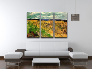 Wheat Field with Cornflowers by Van Gogh 3 Split Panel Canvas Print - Canvas Art Rocks - 4